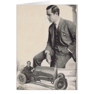 Antonio Moreno 1917 vintage portrait wheels! Greeting Card