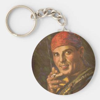 Antonio Moreno, Silent Film Star Basic Round Button Key Ring