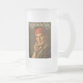 Antonio Moreno, Silent Film Star Frosted Glass Beer Mug