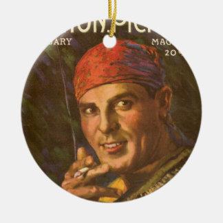 Antonio Moreno, Silent Film Star Round Ceramic Decoration