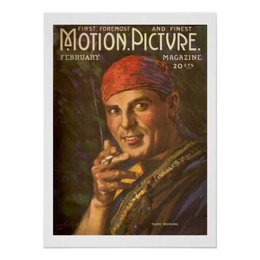 Antonio Moreno Silent Movie magazine cover Print