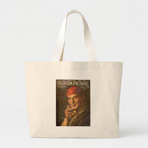 Antonio Moreno vintage magazine cover Canvas Bags