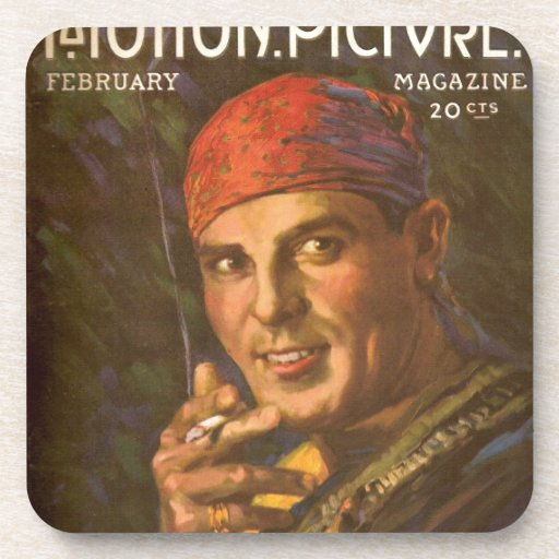 Antonio Moreno vintage magazine cover Beverage Coasters