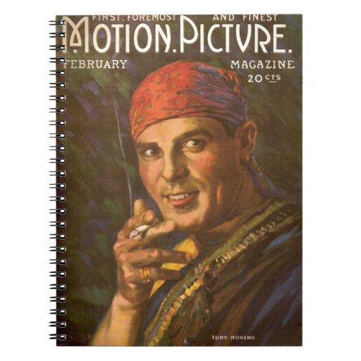 Antonio Moreno vintage magazine cover Spiral Notebook