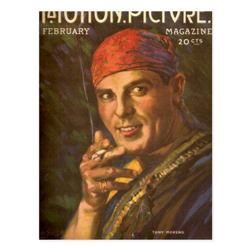 Antonio Moreno vintage magazine cover Postcards
