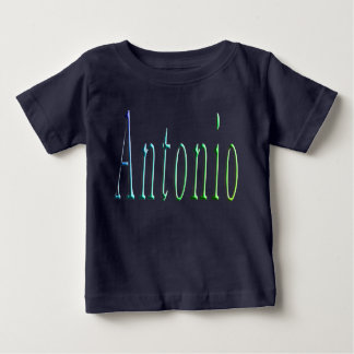 Antonio, Name, logo, Baby Boys Blue T-shirt