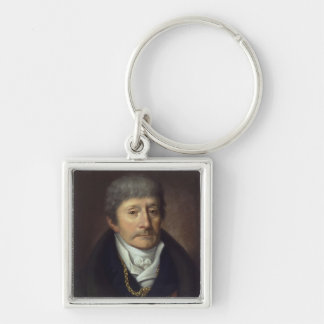 Antonio Salieri Silver-Colored Square Key Ring