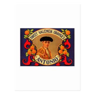 Antonio Sweet Valencia Oranges Post Cards