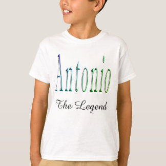 Antonio, The Legend,  Boys White T-shirt. T-Shirt