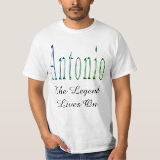 Antonio, The Legend Lives On, Mens White T-shirt