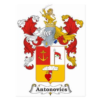 Antonovics Family Hungarian Coat of Arms Postcard