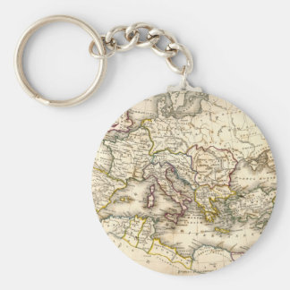 Antquie Map of Ancient Roman Key Ring