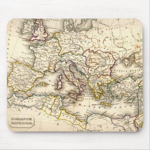 Antquie Map of Ancient Roman Mousemat