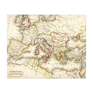 Antquie Map of the Ancient Roman Empire Canvas Print
