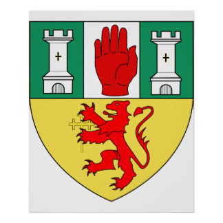 Antrim arms, Ireland Poster