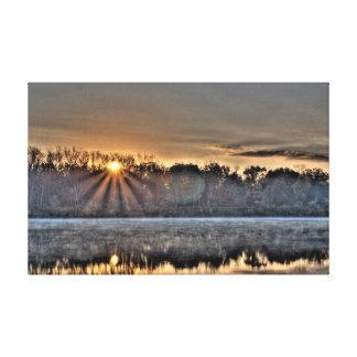 Antrim Lake Sunrise, Columbus, Ohio Canvas Print