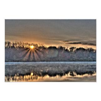 Antrim Lake Sunrise, Columbus, Ohio Photograph