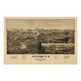 Antrim, NH Panoramic Map - 1887 Poster
