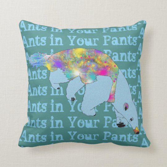 Ants in Your Pants Blue Anteater Animal Art