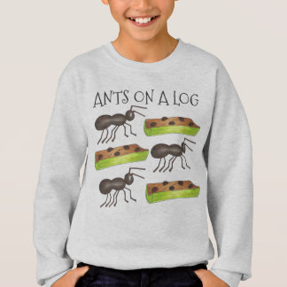 Ants on a Log Ant Celery Snack Food Tee