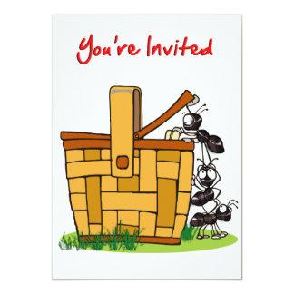 Ants Raiding Picnic Basket You're Invited 13 Cm X 18 Cm Invitation Card