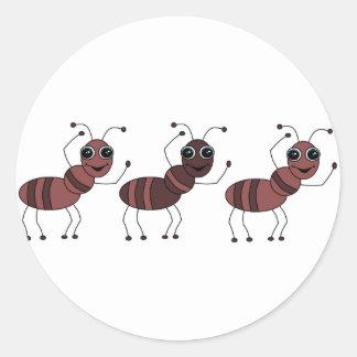 ANTS ROUND STICKER