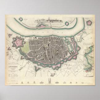 Antwerp Antwerpen Anvers Poster
