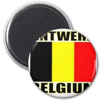 Antwerp, Belgium 6 Cm Round Magnet