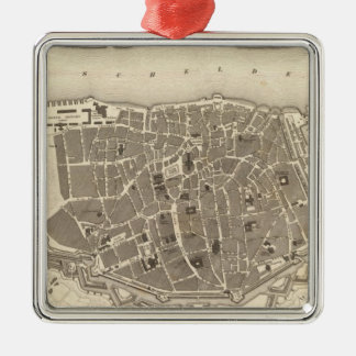 Antwerp, Belgium Silver-Colored Square Decoration