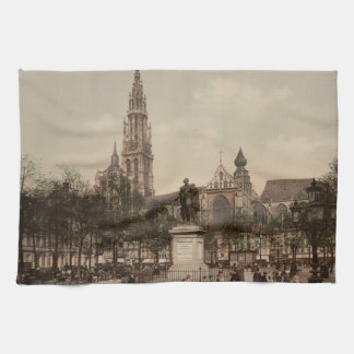 Antwerp Catherdral, Antwerp, Belgium Tea Towel