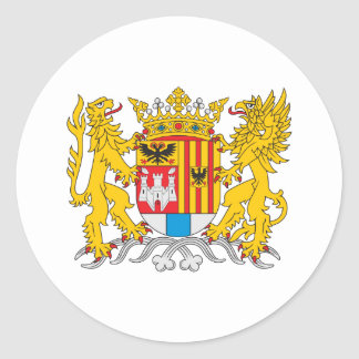 Antwerp Coat Of Arms Classic Round Sticker