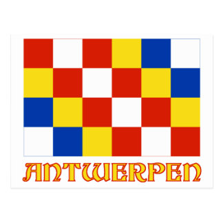 Antwerp Flag with Name Postcard