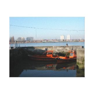 Antwerp, Scheldt support vessel 4 Canvas Print