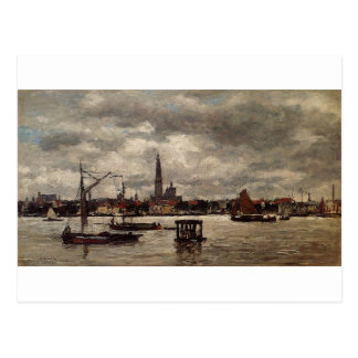 Antwerp, the Schelde by Eugene Boudin Postcard