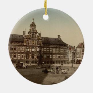 Antwerp Town Hall, Antwerp, Belgium Christmas Tree Ornaments