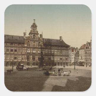 Antwerp Town Hall, Antwerp, Belgium Square Sticker