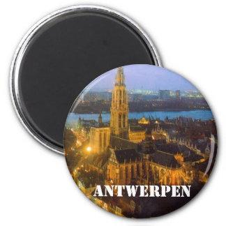 Antwerpen 6 Cm Round Magnet