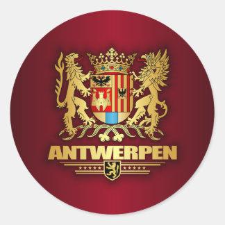 Antwerpen Classic Round Sticker