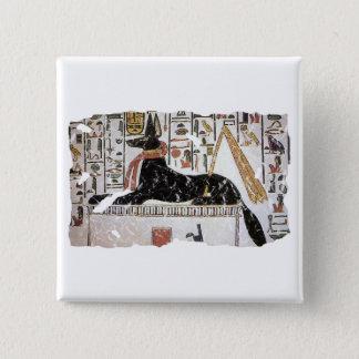 Anubis 15 Cm Square Badge