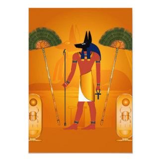 Anubis, ancient Egyptian 13 Cm X 18 Cm Invitation Card