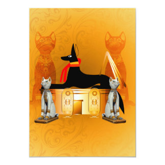 Anubis, ancient Egyptian Card