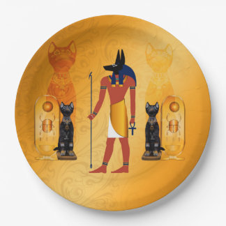 Anubis, ancient Egyptian god Paper Plate