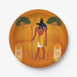 Anubis, ancient Egyptian Paper Plate