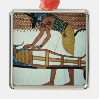Anubis and a Mummy, from the Tomb of Sennedjem Christmas Ornament