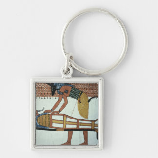 Anubis and a Mummy, from the Tomb of Sennedjem Key Ring