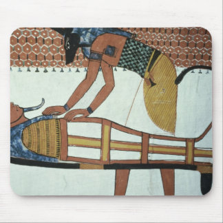 Anubis and a Mummy, from the Tomb of Sennedjem Mouse Pad