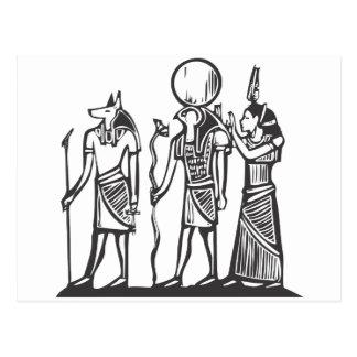 Anubis and Horus Post Card