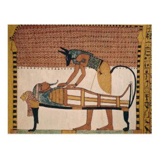Anubis attends Sennedjem s Mummy Postcards