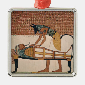 Anubis attends Sennedjem's Mummy Christmas Ornament