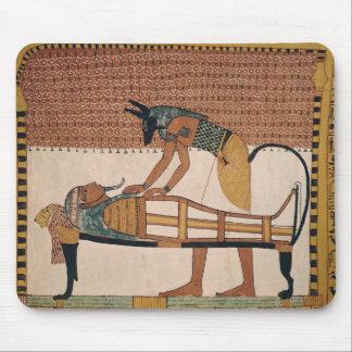 Anubis attends Sennedjem's Mummy Mouse Mat